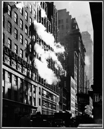 Garment District, Manhattan, Steam coming from pressing buildings