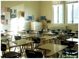 Classroom, Notre Dame School, Greenwich Village, NY